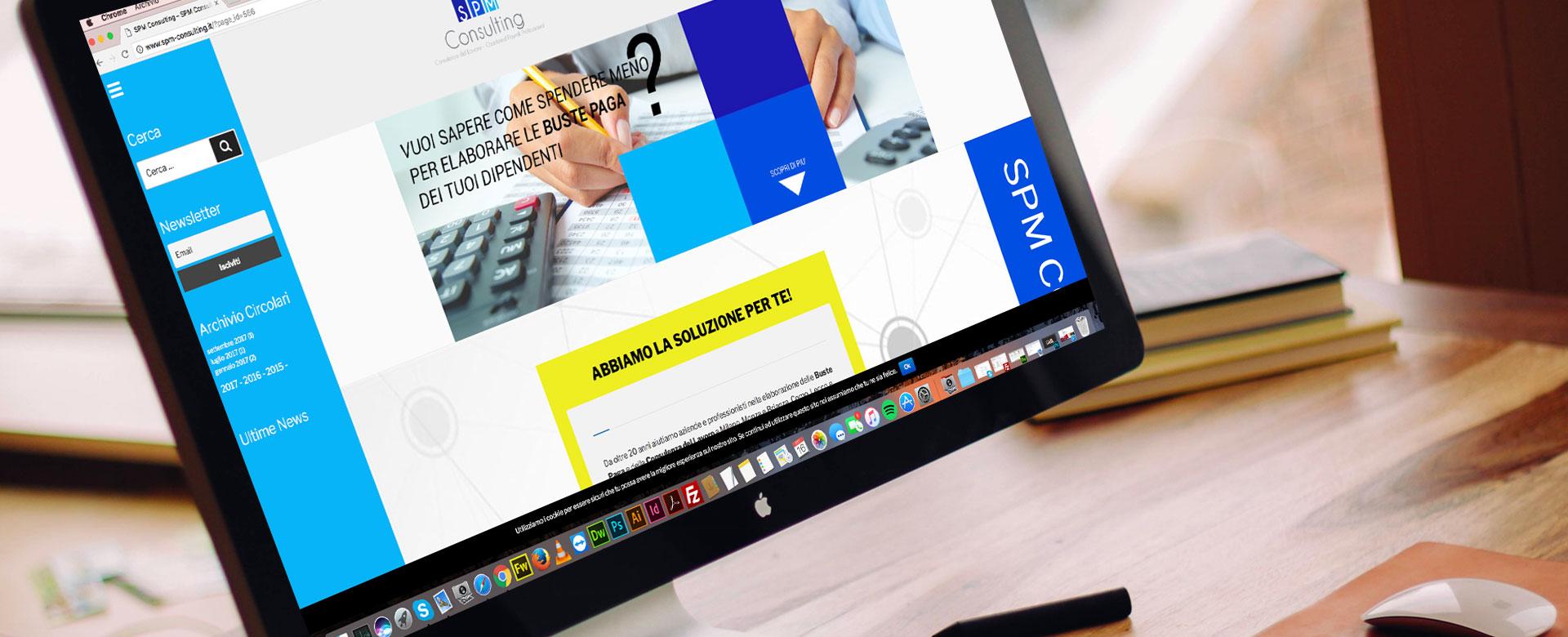 SPM consulting creazione sito web adhoc