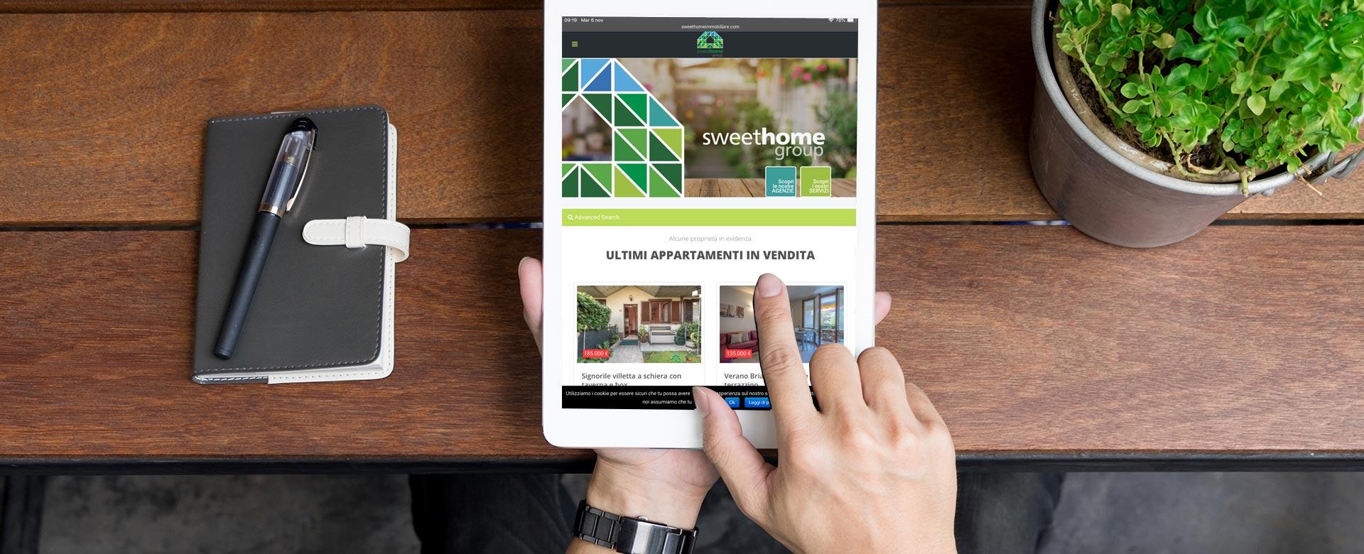 Sweethome immobiliare realizzazione sitowebe ecommerce
