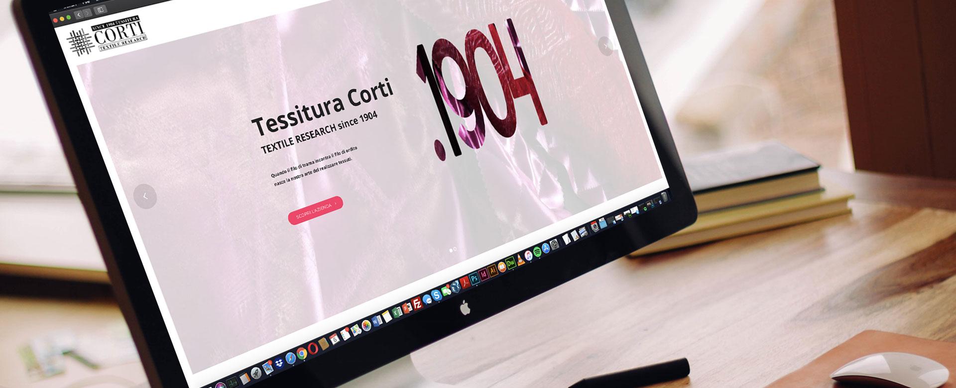 Tessitura Corti realizzazione sito web