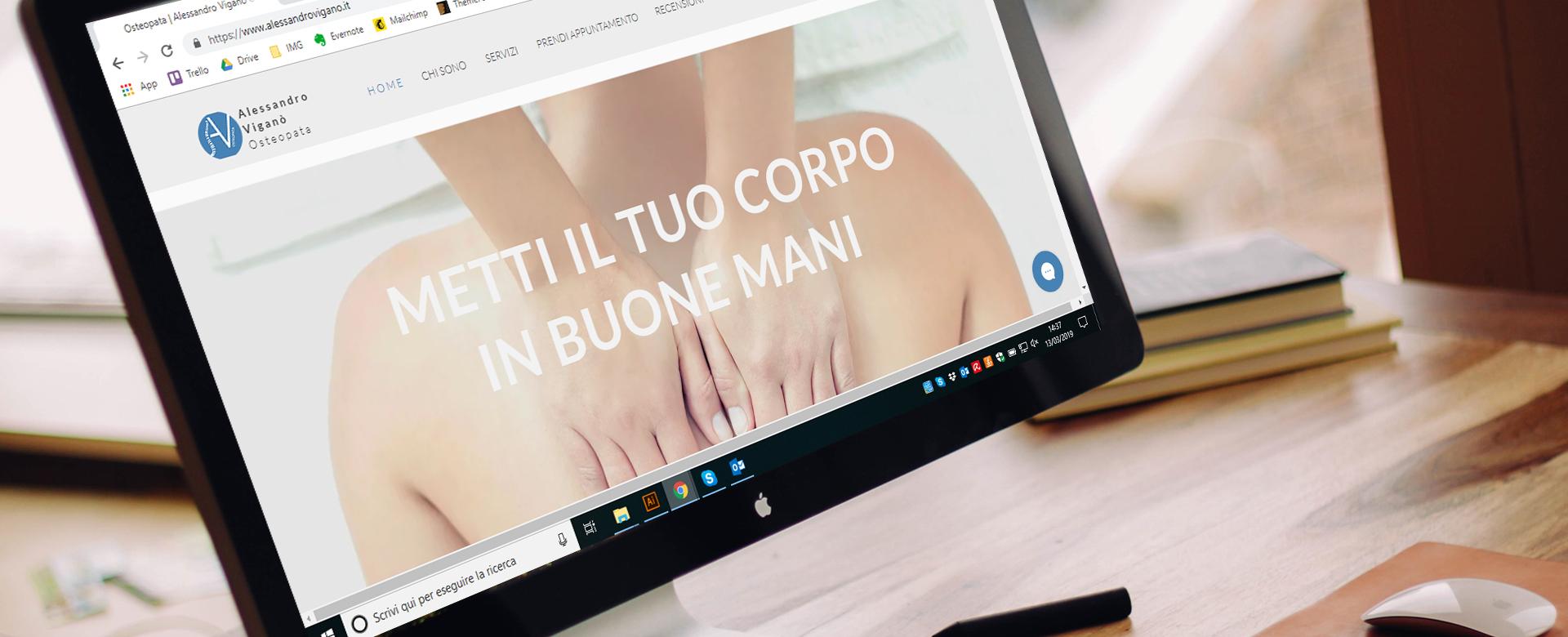 Case study Alessandro Vigano Supporto sito web e creazione piano editoriale