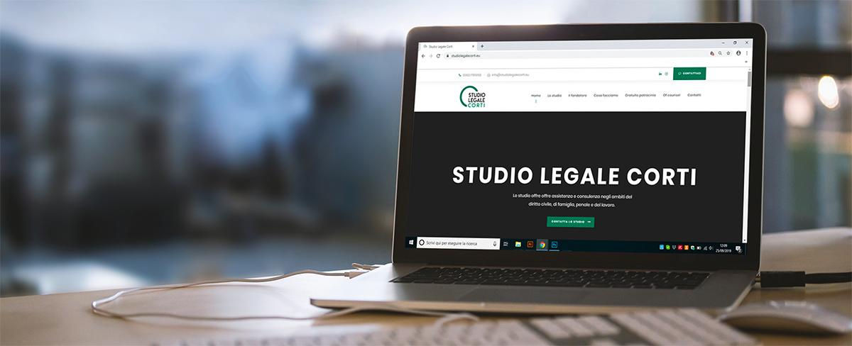 Realizzazione sito web studio legale Corti