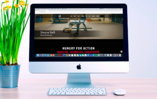 Supporto grafico e tecnico sulla piattaforma Wix per lo sviluppo del sito web Simone Belli