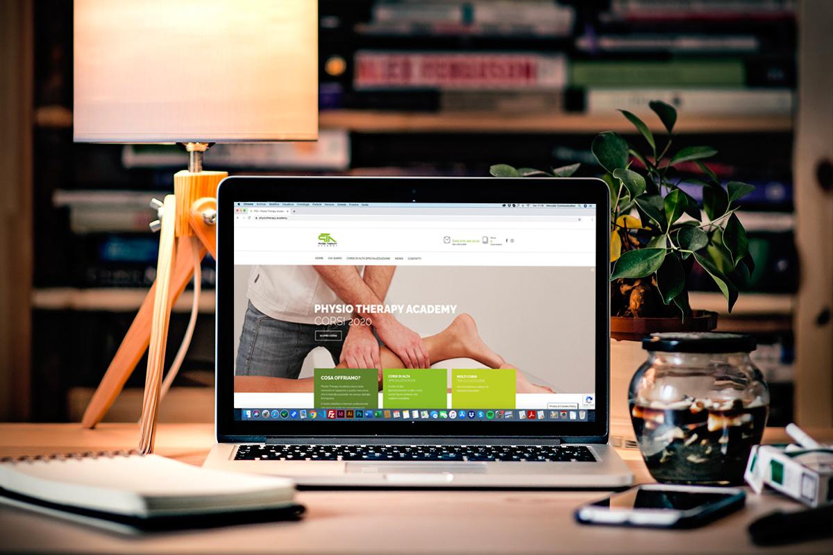 Sviluppo sito professionale Scuola di formazione PTA e realizzazione ecommerce