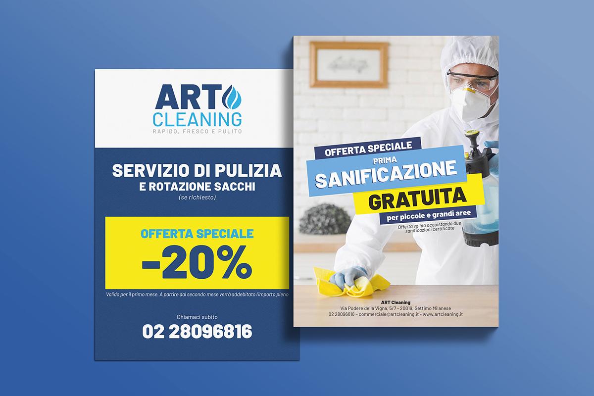 Realizzazione grafica e stampa flyer Art Cleaning
