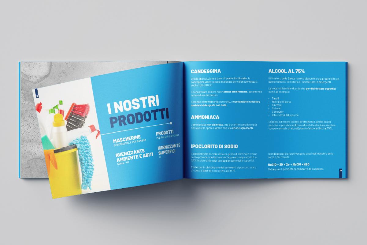 Realizzazione grafica e stampa brochure Art Cleaning