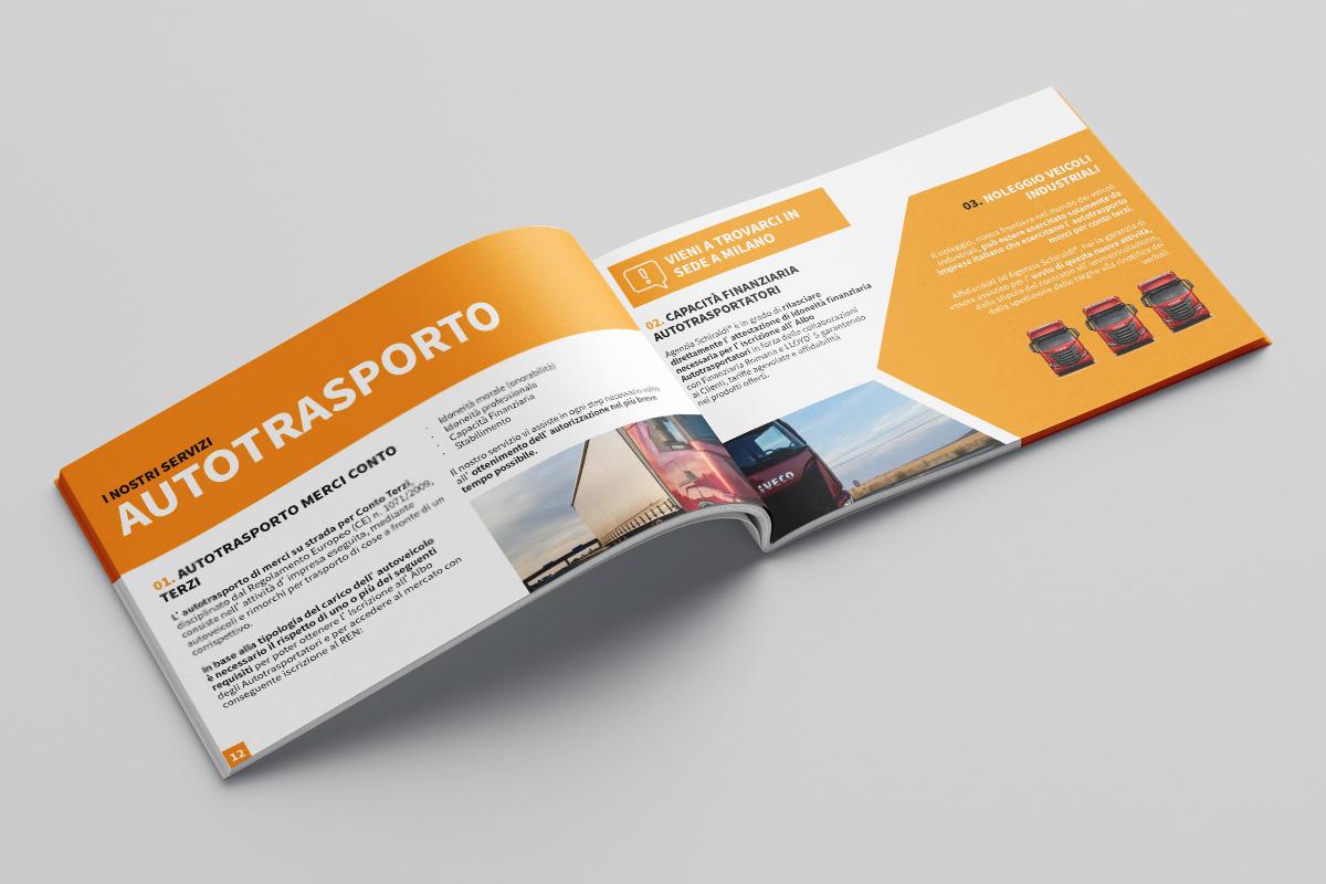 Realizzazione grafica e stampa brochure Agenzia Schiraldi