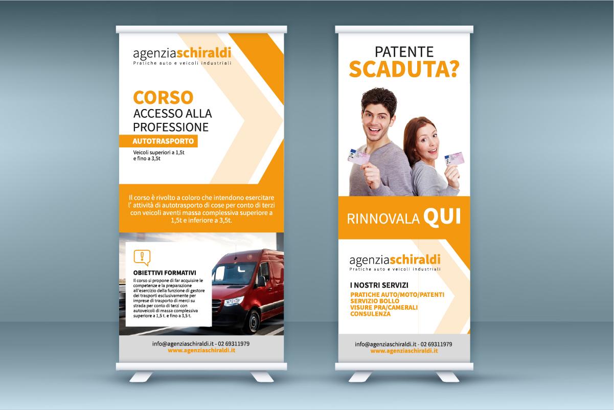 Realizzazione grafica roll up Agenzia Schiraldi