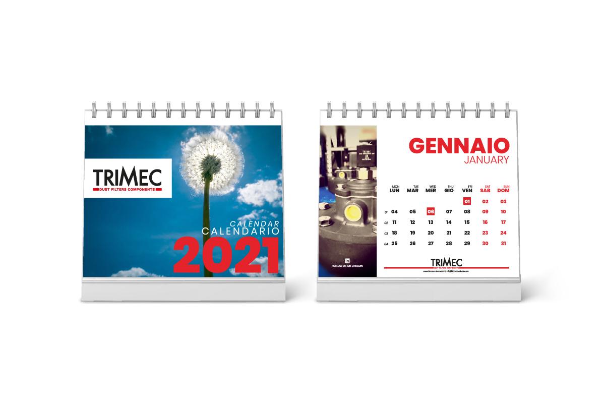 Realizzazione grafica calendario da tavolo Trimec